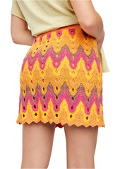 Free People Heat of the Moment Crochet Miniskirt