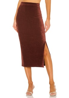 Free People Helen Rib Tube Skirt