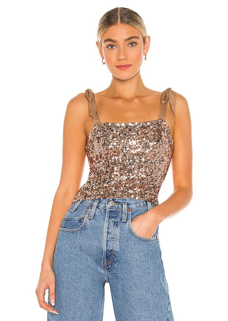 Free People Hey Girl Sequin Cami