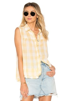Free People Hey There Sunrise Button Down