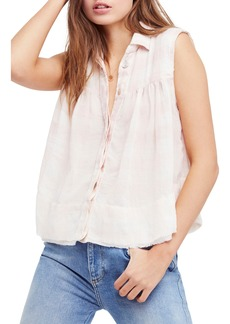 Free People Hey There Sunrise Button Front Shirt