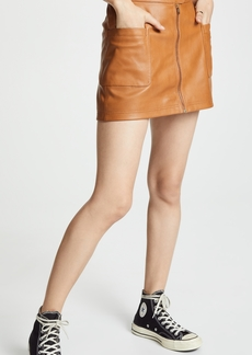 Free People High A-Line Vegan Mini Skirt