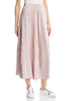 Free People High Holiday Pliss� Midi Skirt
