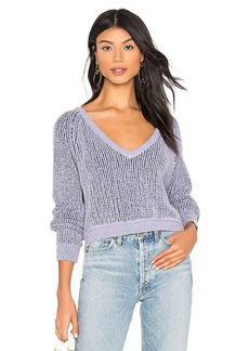 Free People High Low V Sweater