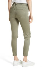 06719118f We the Free by Free People High Rise Busted Knee Skinny Jeans (Moss) ...