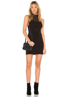 Free People High Society Bodycon Dress in Black. - size L (also in M,S,XS)