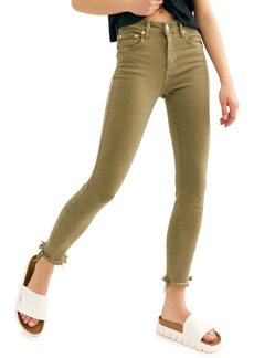 Free People High Waist Ankle Jeggings (Army)