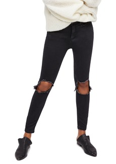 Free People High Waist Ankle Skinny Jeans