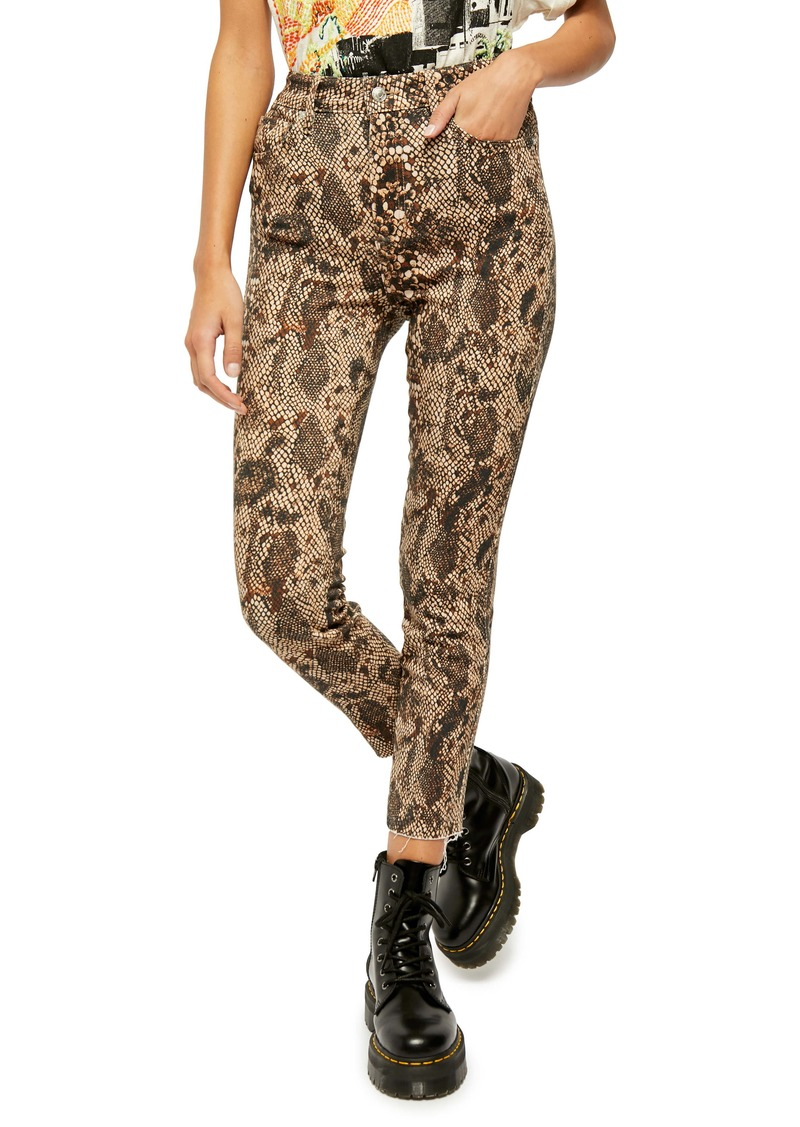 Free People High Waist Denim Leggings (Too Faced Snakeskin)