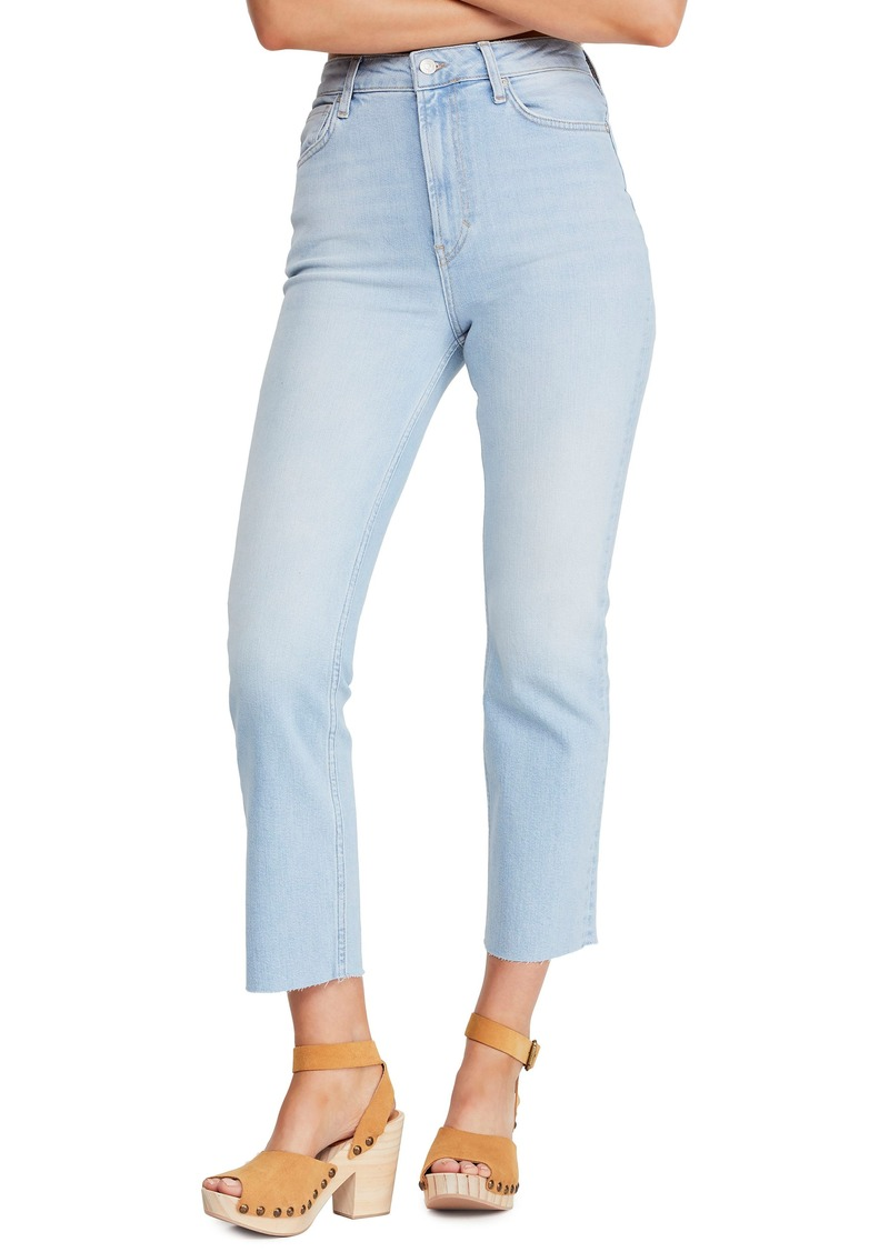 Free People High Waist Slim Straight Leg Jeans