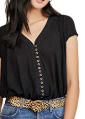 Free People Highland Button Blouse