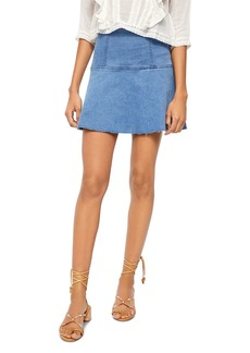Free People Highlands Denim Skirt
