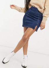 Free People Holding onto a dream denim mini skirt