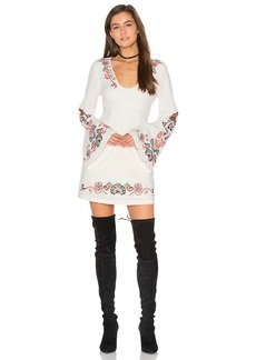 Free People Holiday Folk Mini Dress