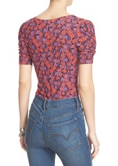 Free People 'Hollywood' Floral Print Top