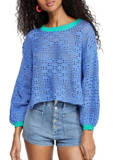 Free People Home Run Pointelle Sweater