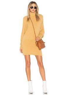 Free People Honey Mini Sweater Dress in Beige. - size L (also in M,S,XS)
