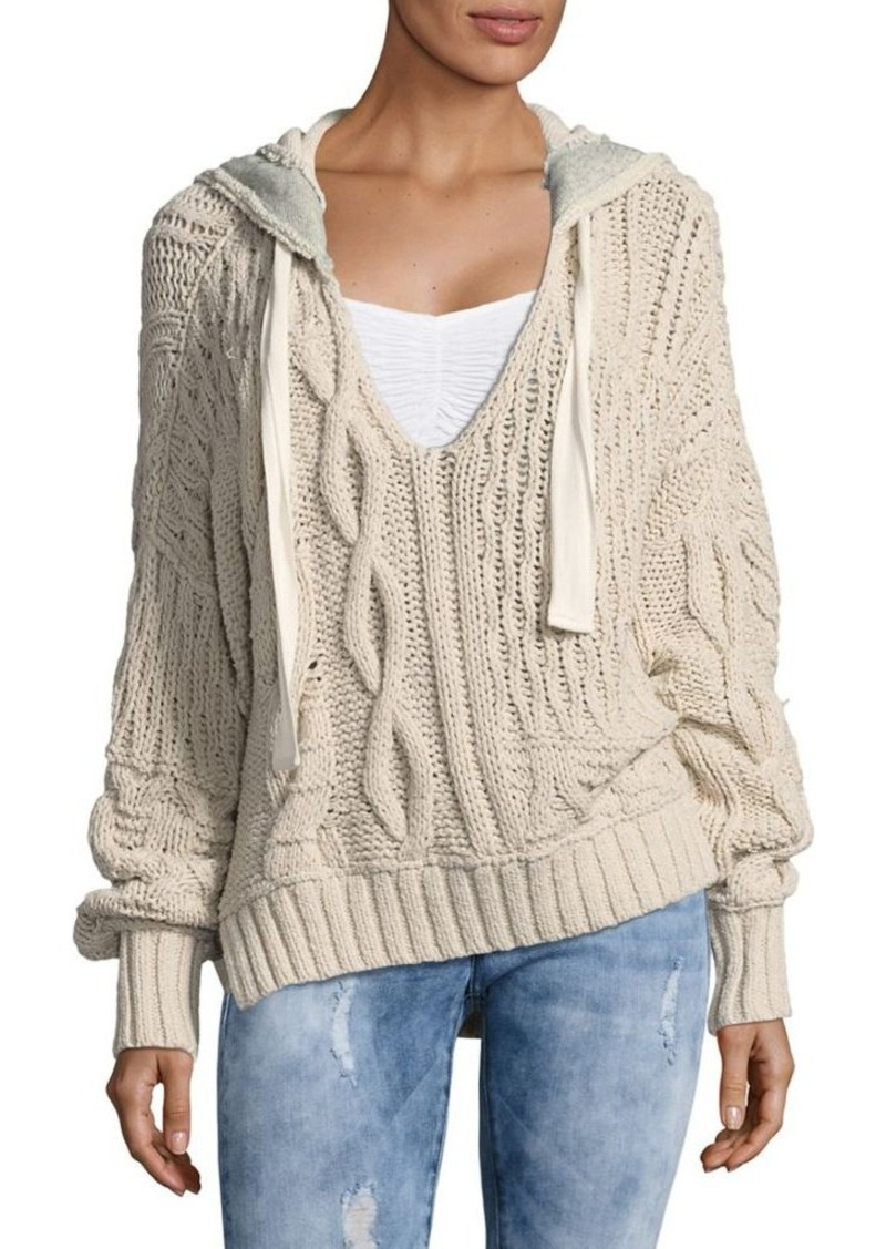 Free People Free People Hooded Cableknit Sweater | Sweaters - Shop ...