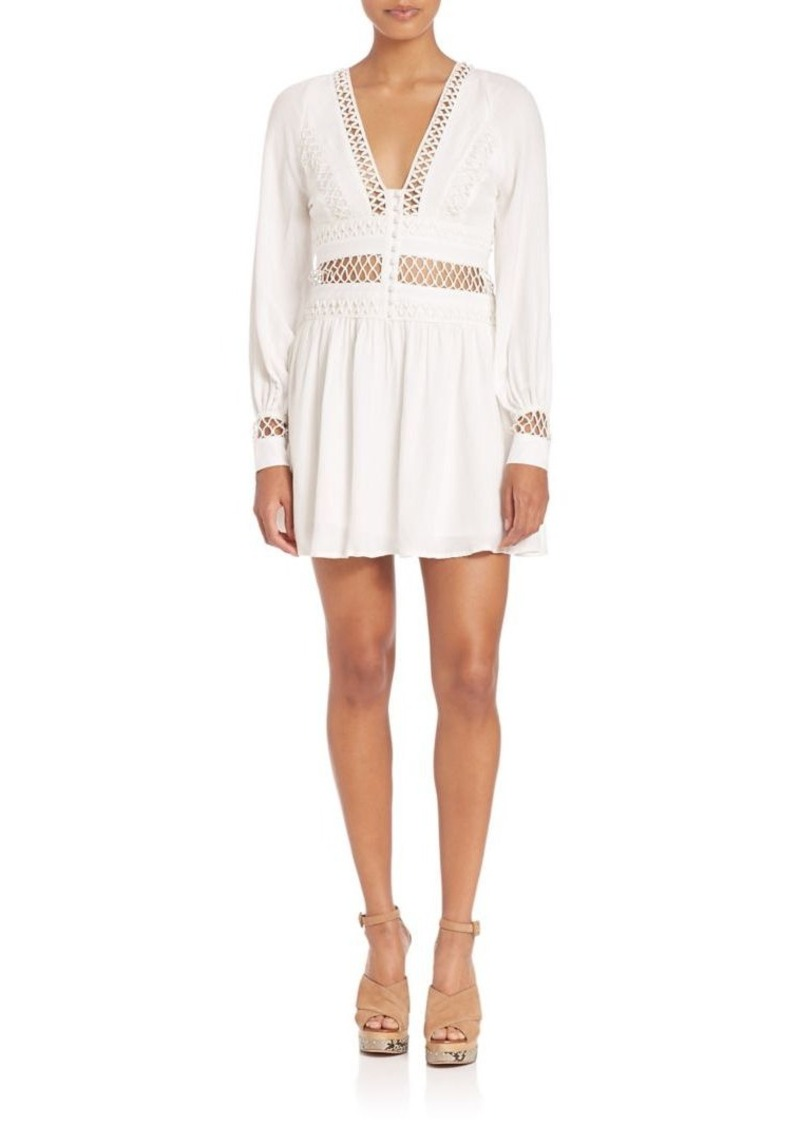 Free People I Think I Love You Crochet Inset Dress