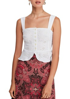Free People I Want You Babe Eyelet Top
