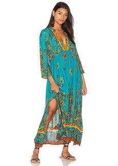 Free People If You Only Knew Midi Dress in Green. - size M (also in L,S,XS)