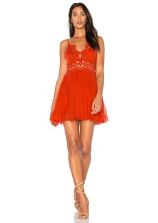 Free People Ilektra Mini Dress in Orange. - size L (also in M,S,XS)