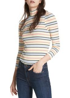 Free People I'm Cute Stripe Turtleneck Sweater