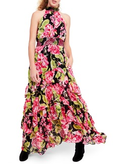 Free People In Full Bloom Halter Maxi Dress