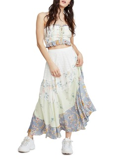 Free People In the Flowers Two-Piece Lace-Up Bodice Dress