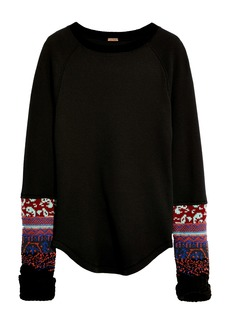 Free People In the Mix Jacquard Cuff Top