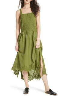 Free People In Your Arms Appliqué Maxi Dress