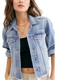 Free People Indira Crop Denim Jacket