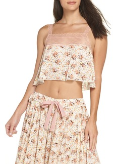 Free People Intimately FP Lovelorn Cropped Pajama Camisole