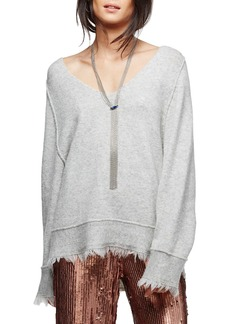 Free People Irresistible Fringe Trim Sweater