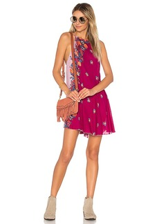 Free People Its A Cinch Printed Slip in Red. - size L (also in M,S,XS)