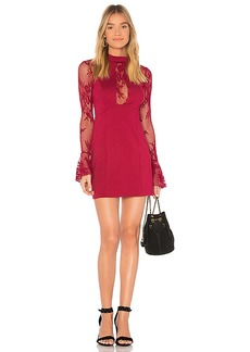 Free People It's Now or Never Mini Dress in Red. - size L (also in M,S,XS)