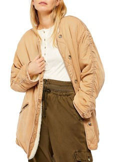 Free People Ivy Sherpa-Lined Jacket