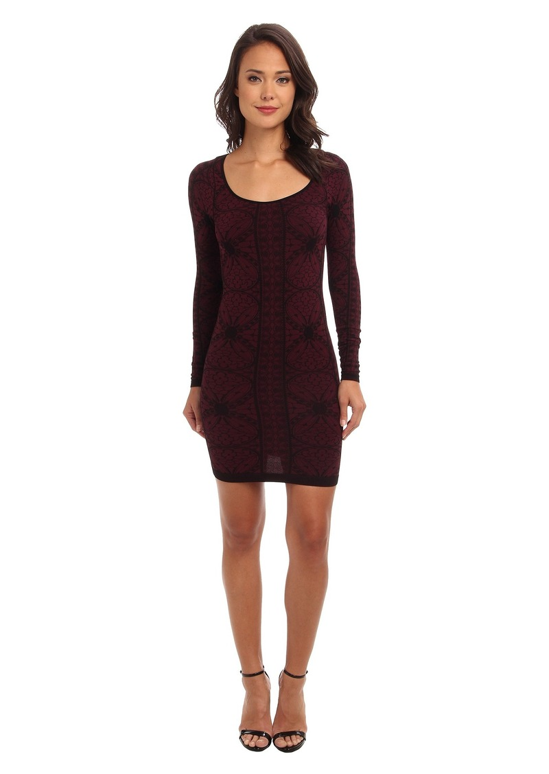 Free People Jacquard Seamless Bodycon Slip