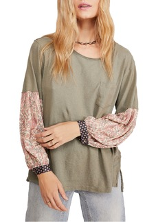 Free People Jade Long Sleeve Pocket Tee