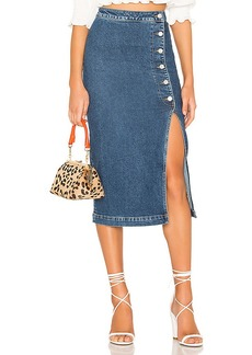 Free People Jasmine Buttoned Midi Skirt