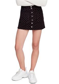 Free People Joanie Print Corduroy Skirt