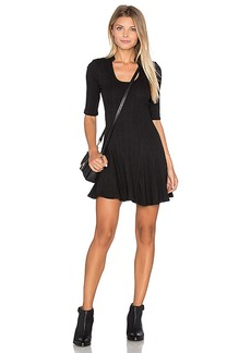 Free People Jolene Rib Dress in Black. - size L (also in M,S)