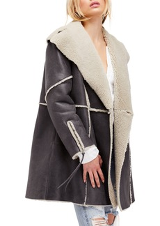 Free People Juno Genuine Shearling Jacket