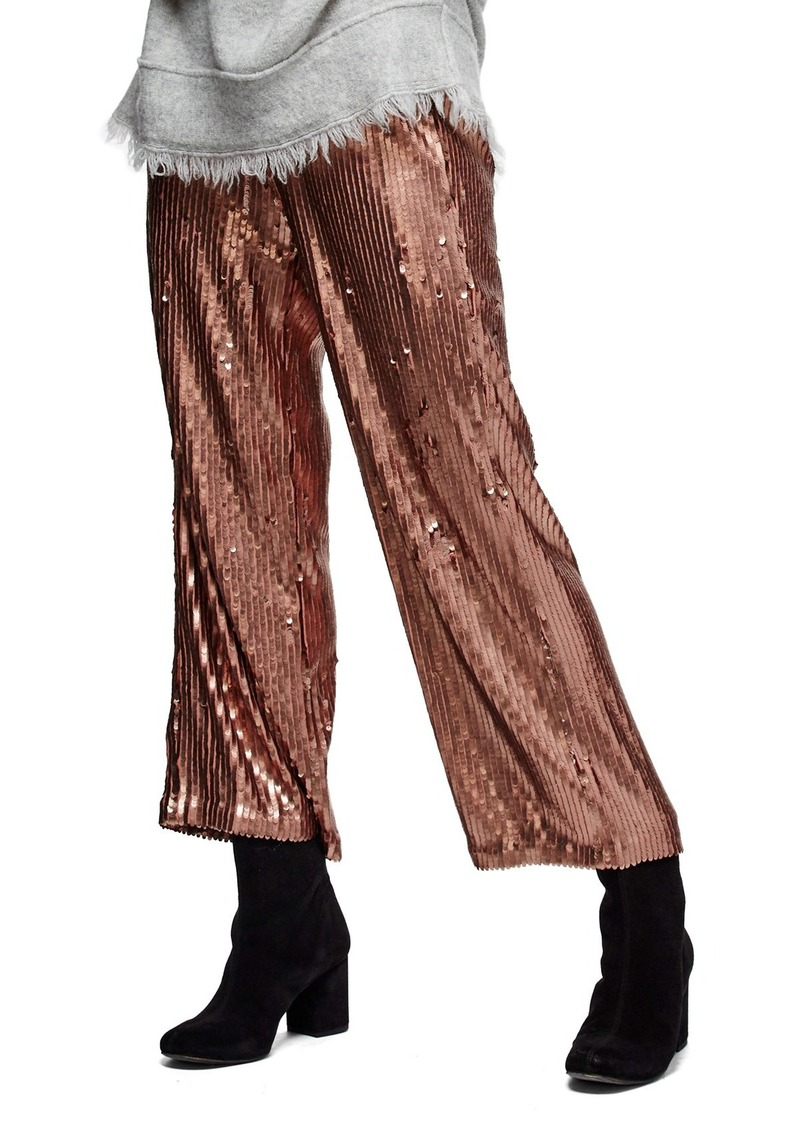 Free People Just a Dreamer Sequin Crop Pants