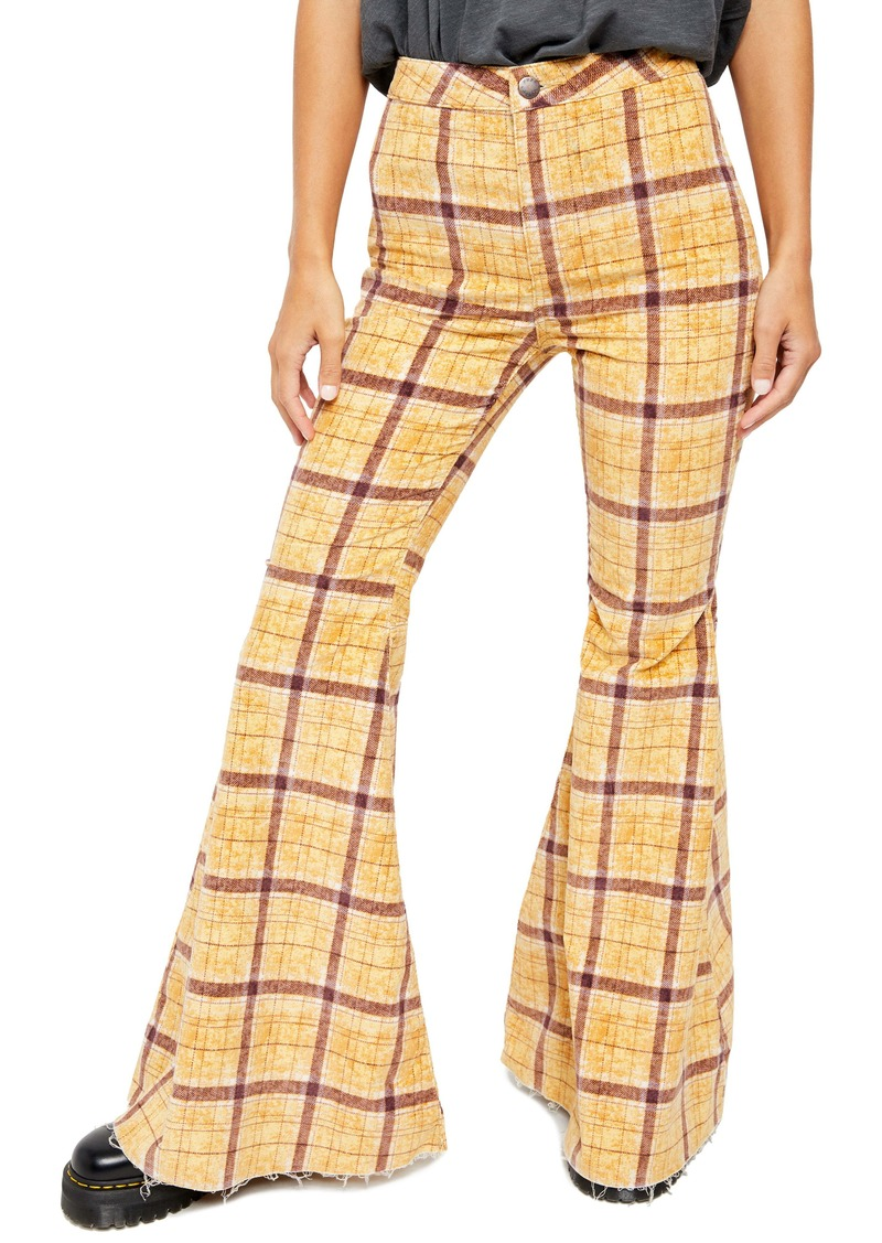 Free People Just Float on Flare High Waist Corduroy Pants