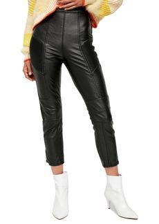 Free People Kaelin Faux Leather Moto Skinny Leggings