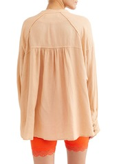 Free People Keep it Simple Button Blouse