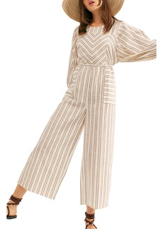 Free People Kenny Stripe Cotton Jumpsuit