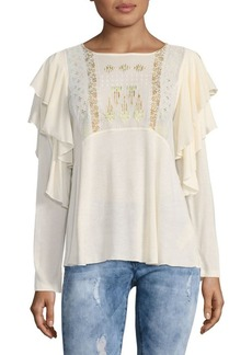 Free People La Cienga Long Sleeve Blouse