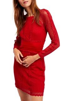 Free People Lace & Mesh Body-Con Dress